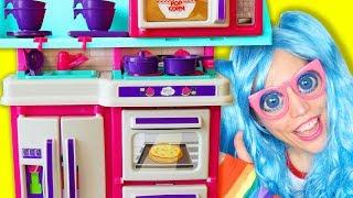 Sunday School - Pretend Cooking Play with Cute Kitchen Secret Door