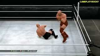 WWE 2K15: Create A Moveset Showoff: Royal Rumble, Ladder & Cage Attacks - All Attack/Grapple Showoff