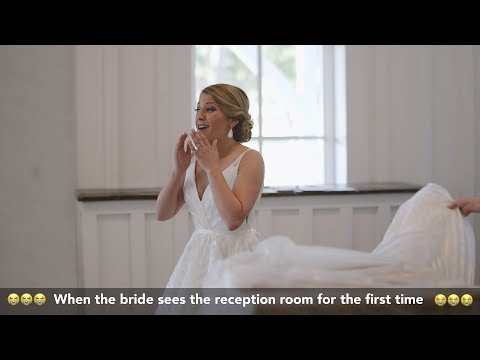 😭😭😭When the bride sees the reception room for the first time 😭😭😭Spain Ranch Wedding Film