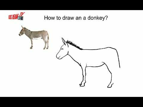 How To Draw A Donkey Easy Drawing Art For Kids Youtube