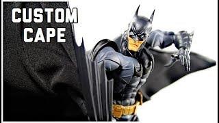 Amazing Yamaguchi Kaiyodo Revoltech Batman The Dark Knight CUSTOM CAPE By Harkercustoms Review