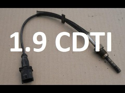 Exhaust Temperature Sensor on 19 cdti, z19dt z19dth, how to replace