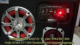 Loa nghe nhạc 12v 24v 220v có bluetooth cực ngon giá 480k