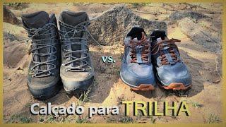 Calçado para TRILHA - Bota Impermeável vs. Tênis de Corrida de Trilha