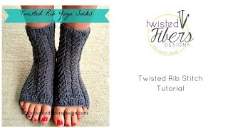 Twisted Rib Yoga Socks Free Knitting Pattern