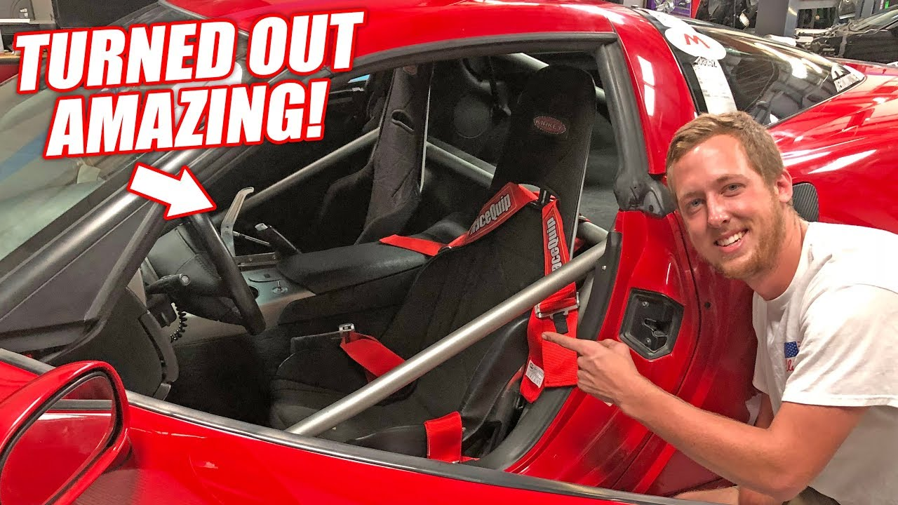 The Auction Corvette's Roll Cage and Parachute is COMPLETE! + Jet Camino Update!