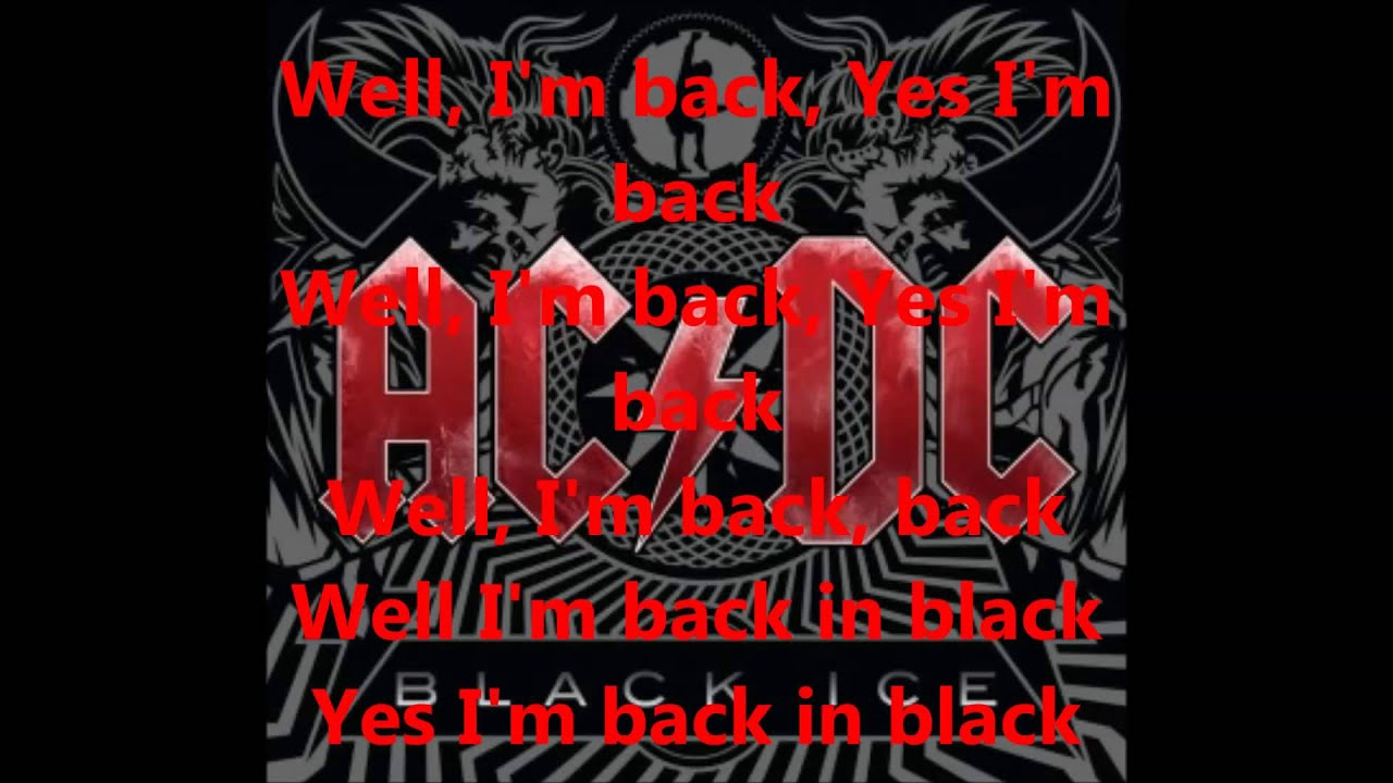ac dc back in black lyrics pdf