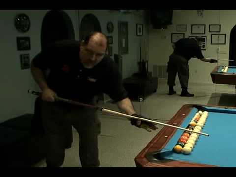 May Pool & Billiard Drill Instructor: Shooting Over Frozen Ball.flv