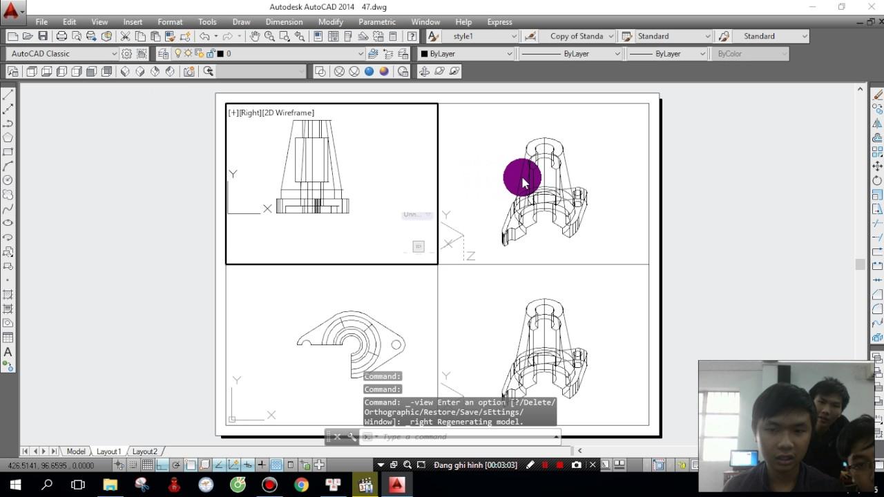 Cách xuất bản vẽ cho Autocad 3d