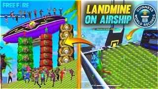 Putting Landmine On Airship \u0026 Climb On Airship Challenge In Free Fire - Garena Free Fire #2