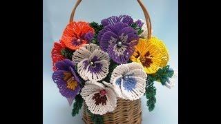 Самые красивые цветы из бисера своими руками