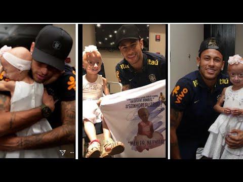 Neymar jr live with young fan Ana clara in Brazil