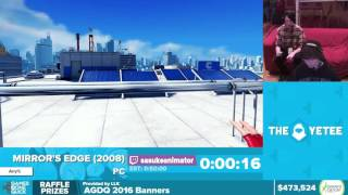 Mirror's Edge by SasukeAnimator in 39:31 - Awesome Games Done Quick 2016 - Part 112 [1440p]