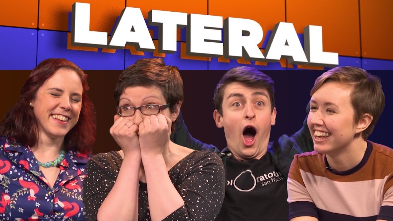 Youtube Thumbnail Image: Lateral: Game 1 with Kat Arney, Helen Arney, Simon Clark, and Sally Le Page