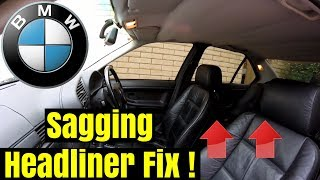 HOW TO: Fix Sagging Car Roof Lining on BMW 321i E36
