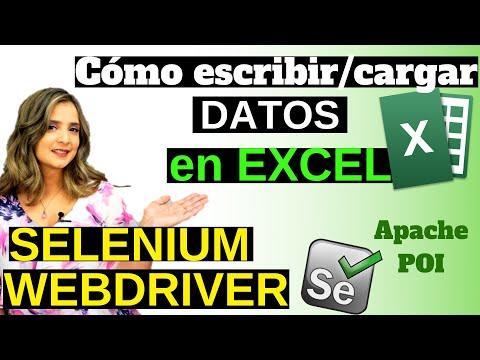 selenium-webdriver- -lectura/escritura-de-excel-con-apache-poi