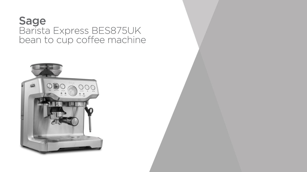 SAGE Barista Express BES875UK Bean to Cup Coffee Machine Silver Currys