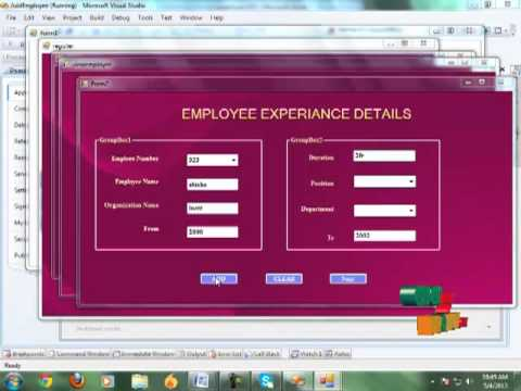 Final Year Projects Employee Management System Youtube