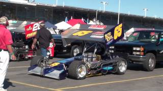 Oswego Speedway 2012 ISMA Winged Super Modified Pit Action B Sat Sept 1 2012