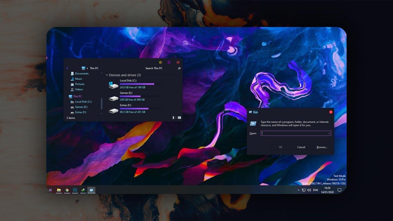 Make Your Desktop Modern Paranoid Theme For Windows 10 Youtube
