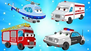 Street Vehicles - Cars & Trucks for Kids w Police Car and Fire Truck - Children Cartoons & Songs