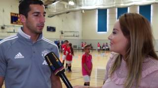 HENRIKH MKHITARYAN IN US USARMENIA EXCLUSIVE