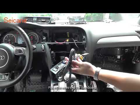 How to install and upgrade newest Audi A4L HD Touch Screen Car Bluetooth GPS Radio Removal
