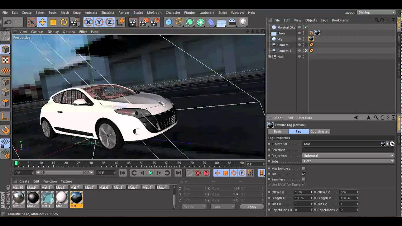 Cinema 4d hdr lighting and background tutorial youtube for Cinema 4d raumgestaltung