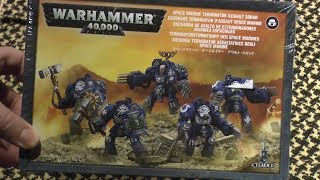 Space Marine Terminator Assault squad unboxing and review (WH40K)