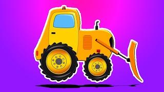 推土机形成和用途  车辆的孩子  孩子们卡通  教育视频   Children Vehicles   Kids Game   Bulldozer Formation and Uses