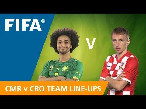 Cameroon v. Croatia - Teams Announcement