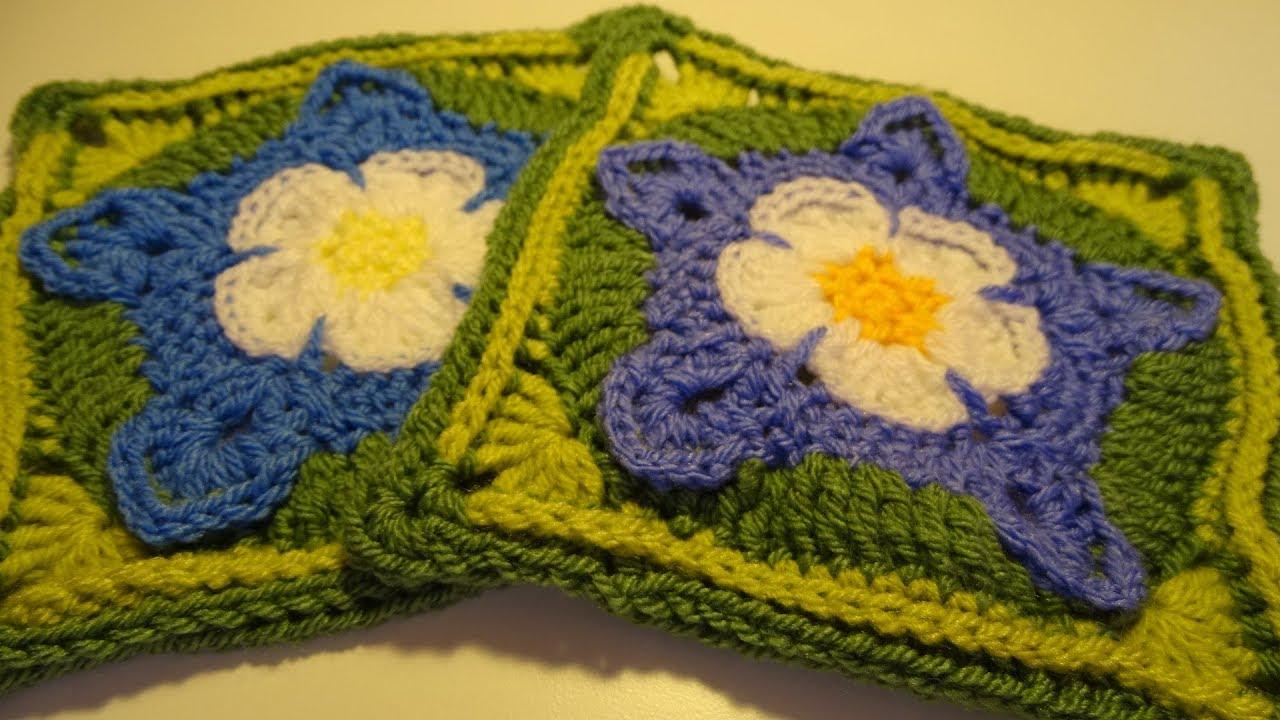 Crochet Blanket The Secret Garden Part 8 Columbines Youtube