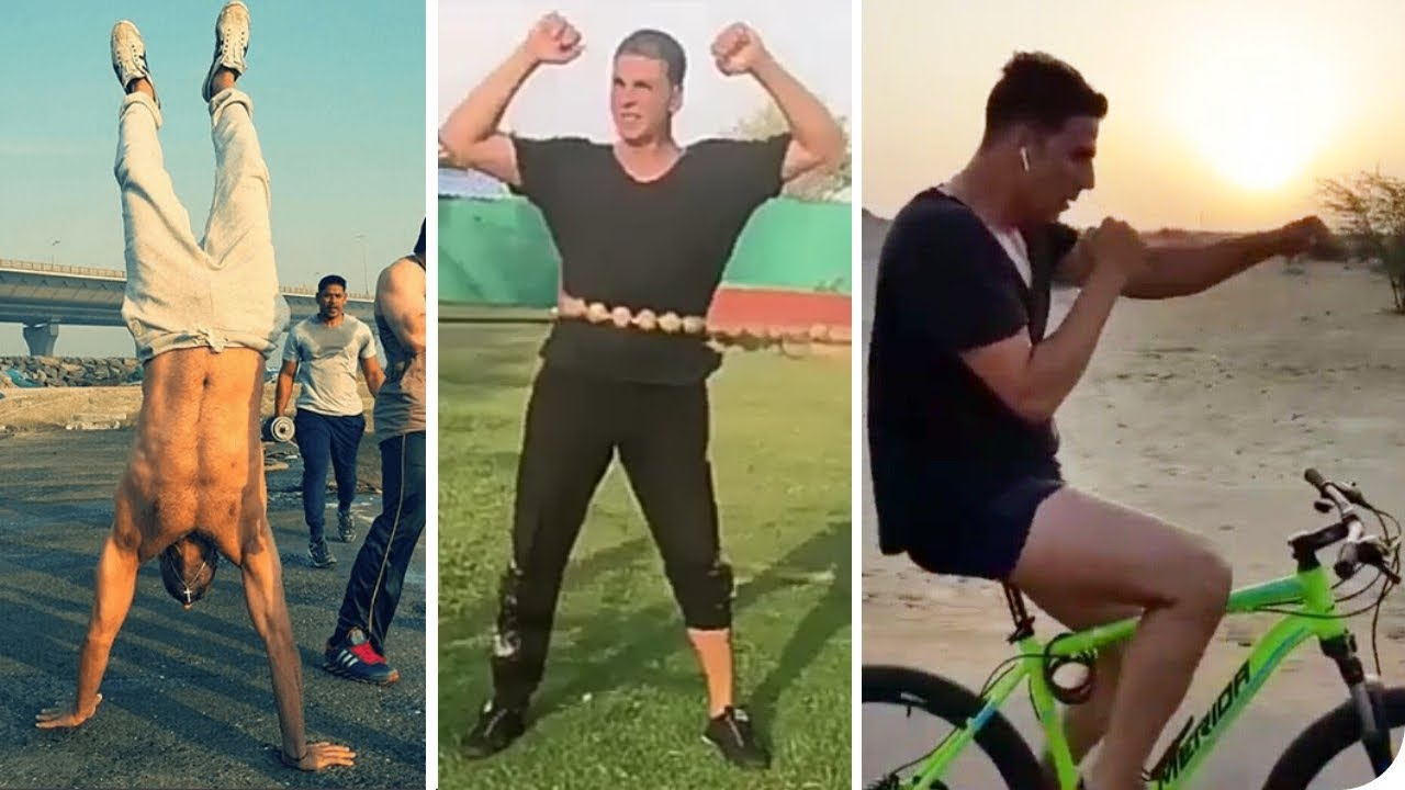 Akshay Kumar's FUNNY WORKOUT | Health & Fitness SECRETS - YouTube