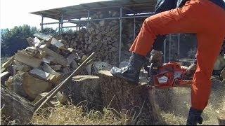 腰を痛めない薪割り方法、直径50cmの太い木も楽々(音声合成ソフトによるナレーション付) thumbnail