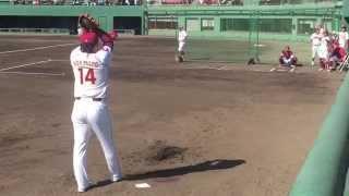 最速158km 4年連続奪三振王 楽天 則本昂大のブルペン投球がエグすぎる Takahiro Norimoto thumbnail