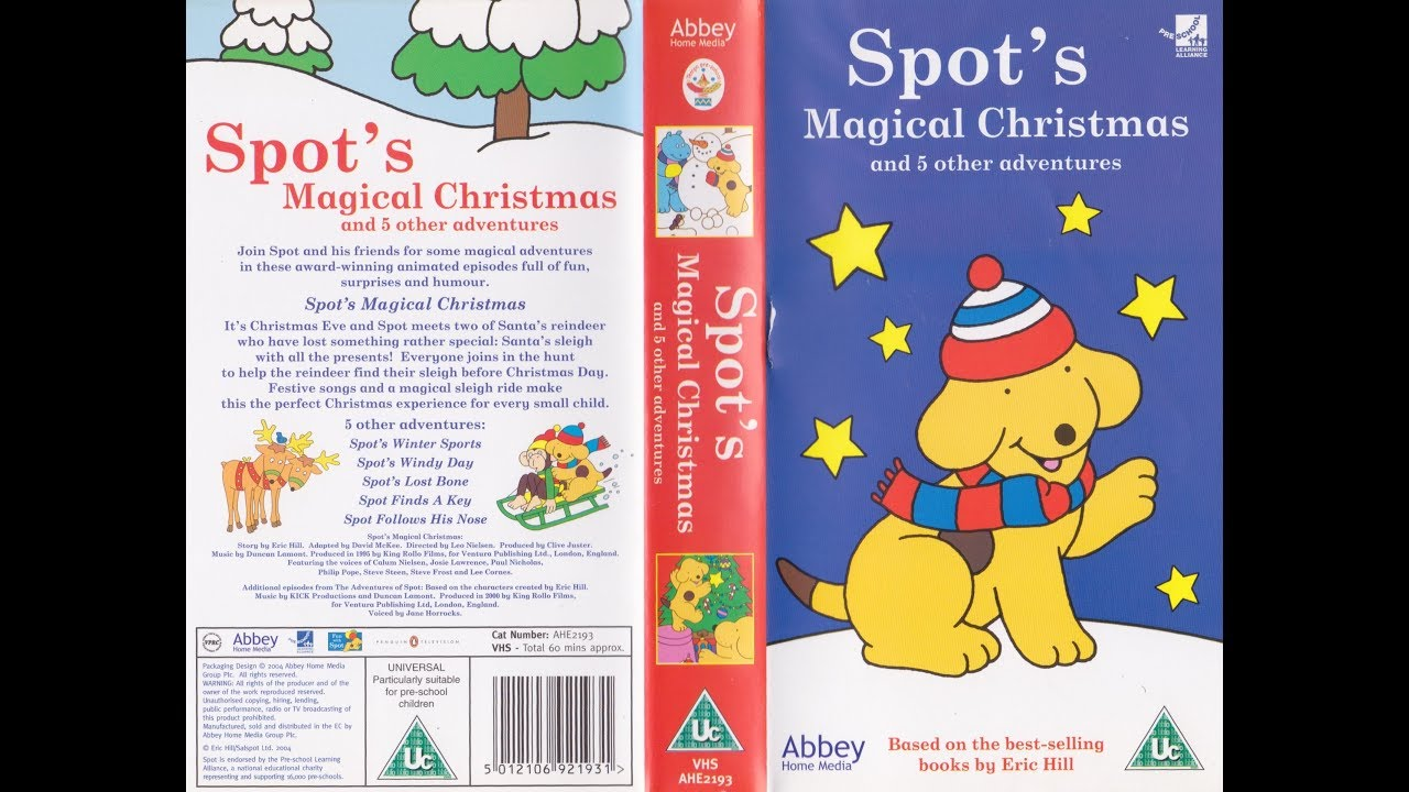 Spot\'s Magical Christmas and 5 other Adventures (2004 UK VHS) - YouTube