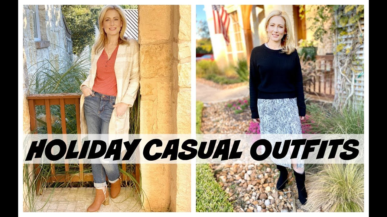 [VIDEO] - Casual Holiday Outfits | MsGoldgirl 1