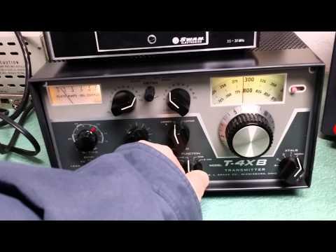Drake T-4XB Transmitter test