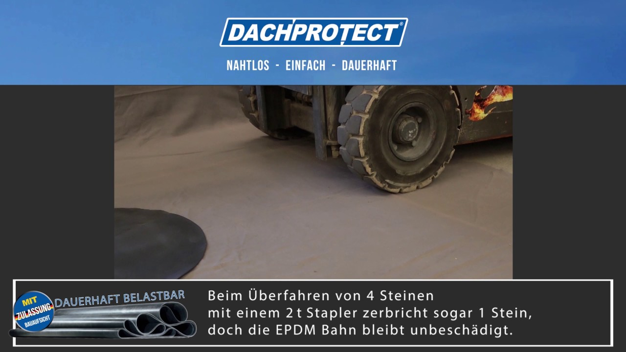 How Strong Is Dachprotect Epdm Youtube