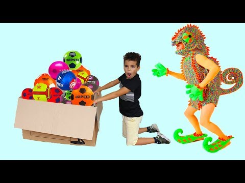 adel and sami play soccer ball  funny videos for kids,les boys tv