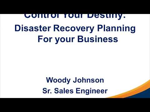First Communications Disaster Recovery Planning Webinar