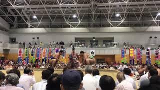 8月9日 大相撲龍ヶ崎場所.