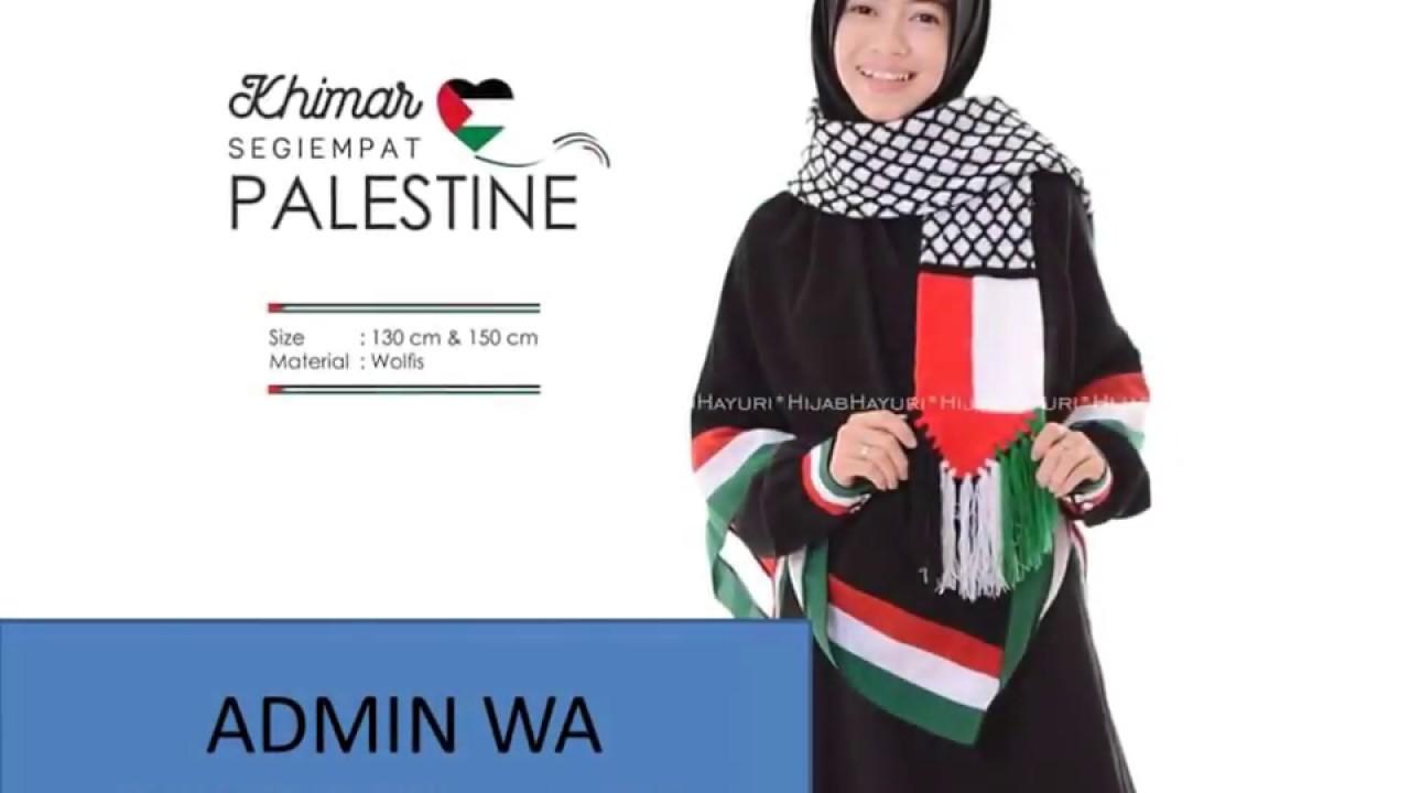 Harga Heboh Gamis Dan Khimar Palestina Warna Hitam Youtube