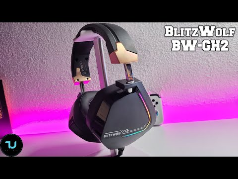 BlitzWolf BW GH2 Gaming Headphones 7.1 Channel 53mm Driver Unboxing/Review test! RGB+Microphone