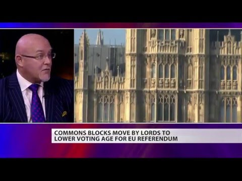 Leave.EU's Brian Monteith on 16-17 year olds voting in the Referendum