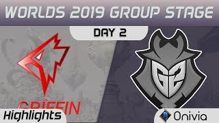 GRF vs G2 Highlights Worlds 2019 Main Event Group Stage Griffin vs G2 Esports by Onivia
