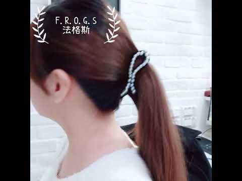 F.R.O.G.S F0468歐美名媛珍珠簡約INS款黑白配造型髮飾扁夾髮夾馬尾夾抓夾鯊魚夾扭扭夾八字夾香蕉夾 - YouTube