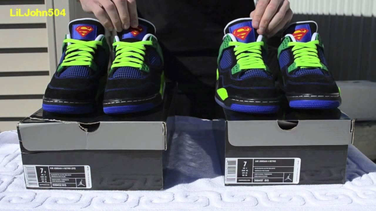 20df4a15d8d5d0 Jordan Doernbecher Retro 4 DB Review Comparison on Feet - YouTube