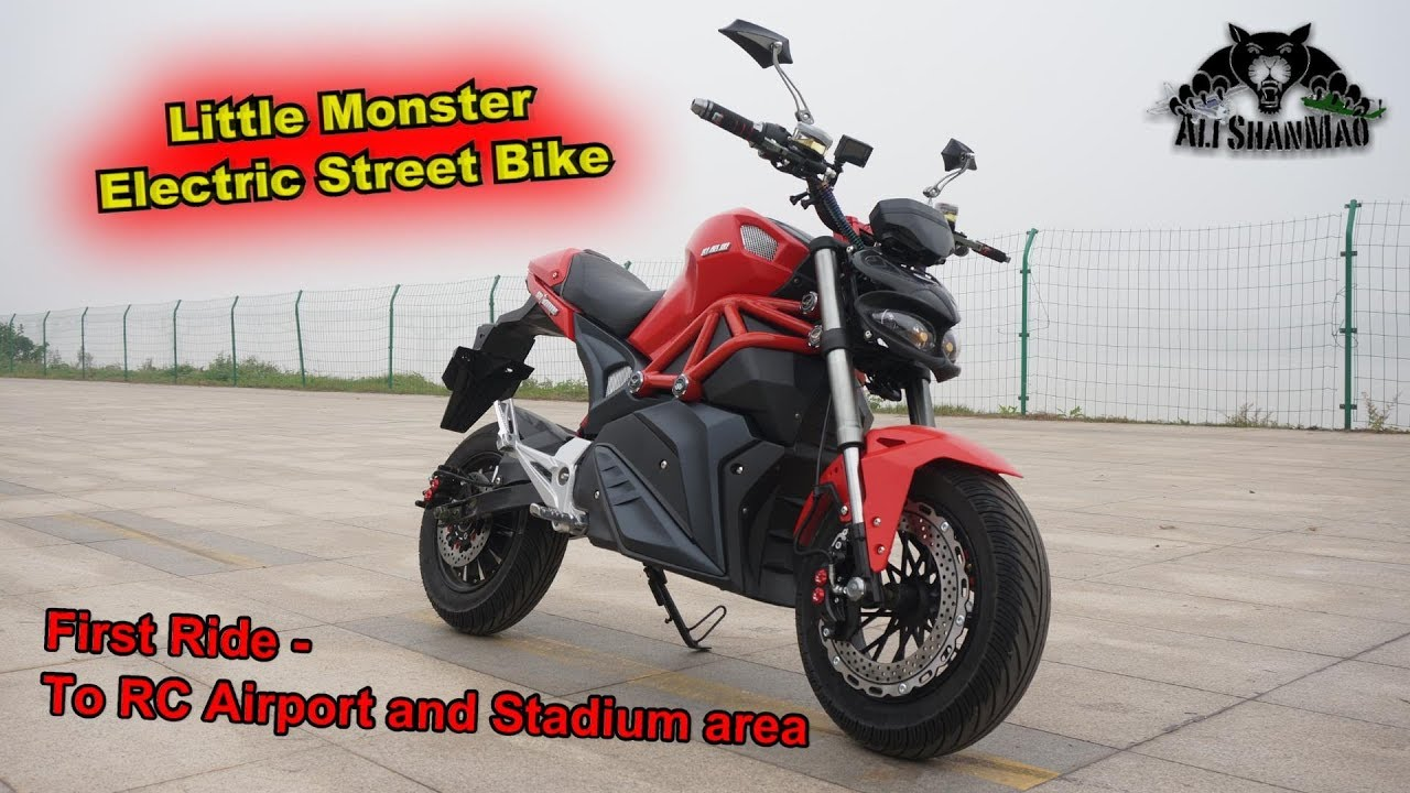 Little Monster Electric Motorcycle Street Motard First Ride With Commentary
