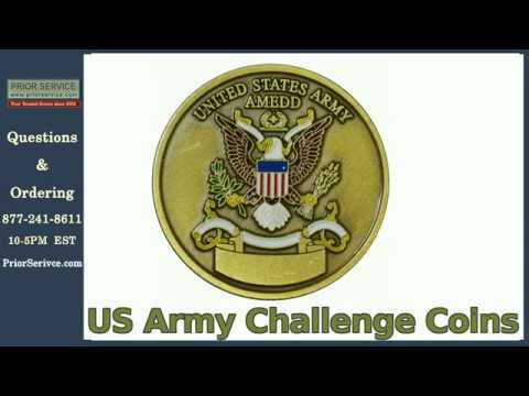 US Army Challenge Coins | Prior Service | Military Army Gift Ideas